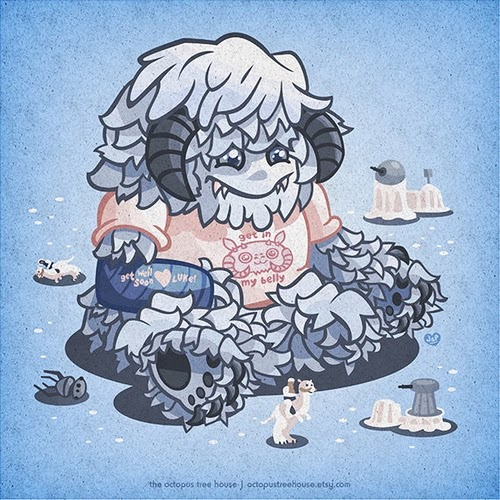 07-Baby-Wampa-Young-Star-Wars-Baddies-Octopus-Tree-House-Prints-www-designstack-co