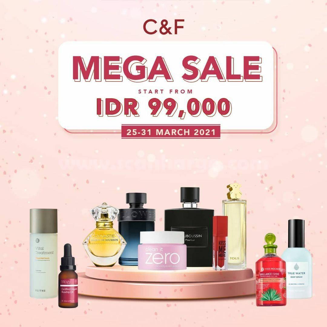 C&F Promo MEGA SALE harga mulai Rp 99.000