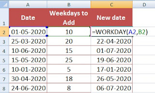 How to Add and Subtract Number of Days in a Date Sets in Excel