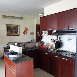 bếp chung cư tân mai 2 phòng ngủ full nội thất
