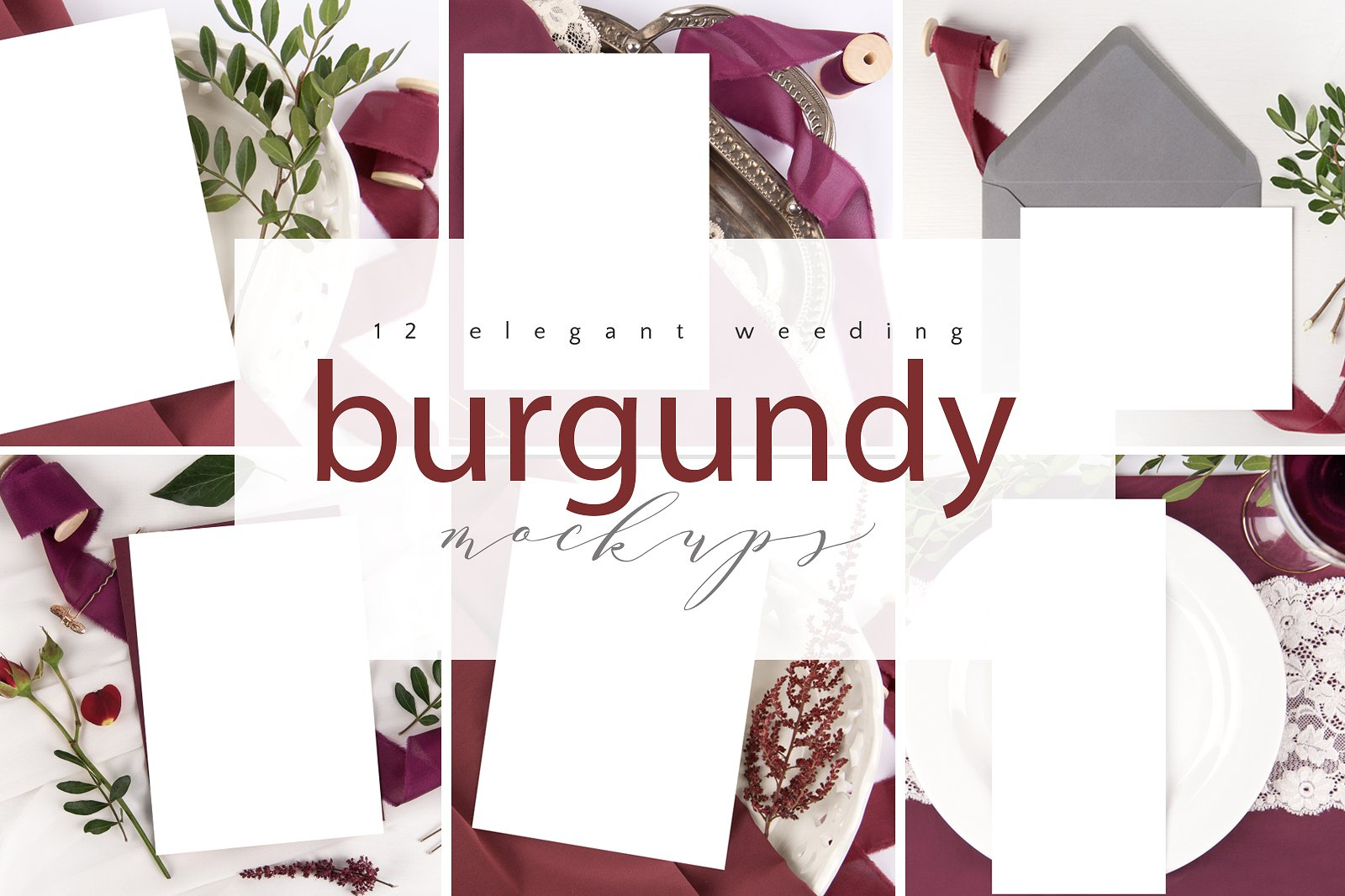 Burgundy Mockup Bundle