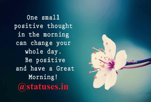 Latest Good Morning Status of 2018 in Hindi