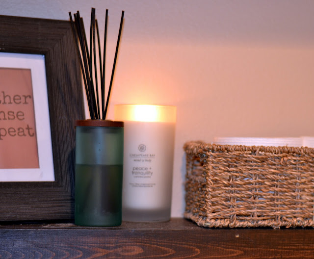 at home spa, candles, decorating with candles, easy to make, Chesapeake Bay Candle