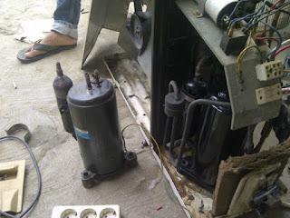 cara mengganti kompresor ac