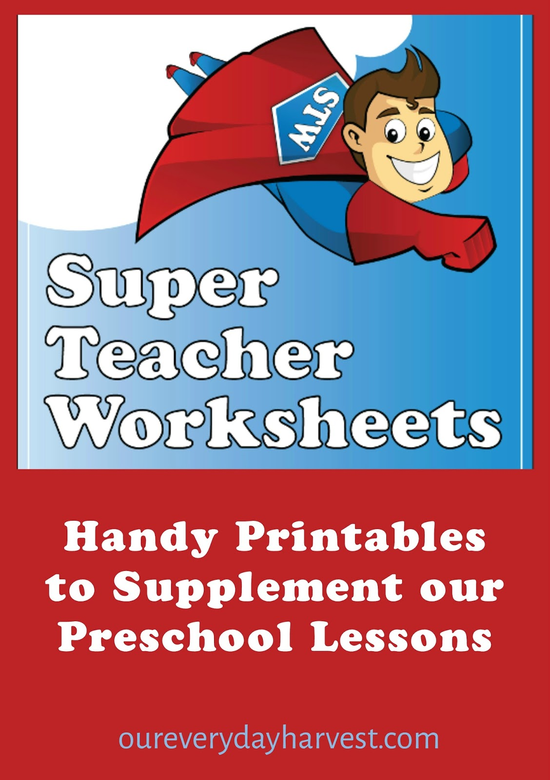 Handy Printables to Supplement our Preschool Lessons: Super Teacher ...