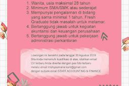 Info Loker CV. MISHYA AMAIRA (BOGOR)