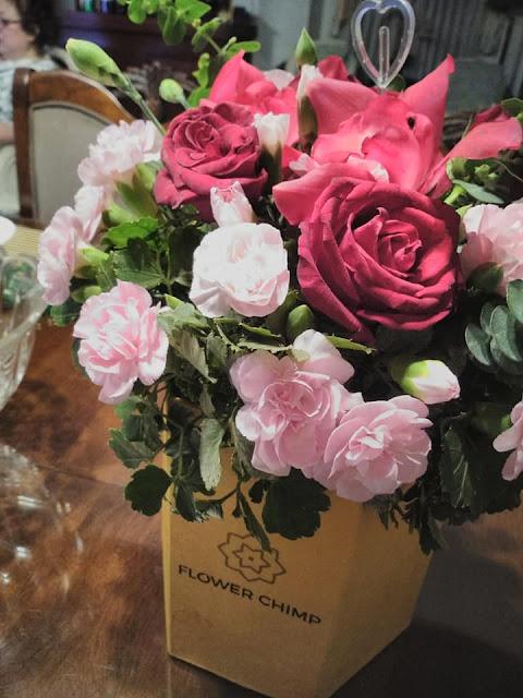 Flowers I ordered from Flower Chimp