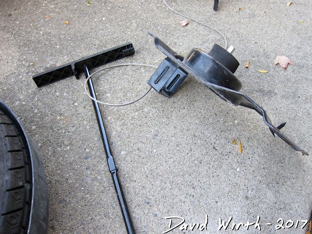spare tire wire, cable, spool, won't, can't, will not, lower, raise