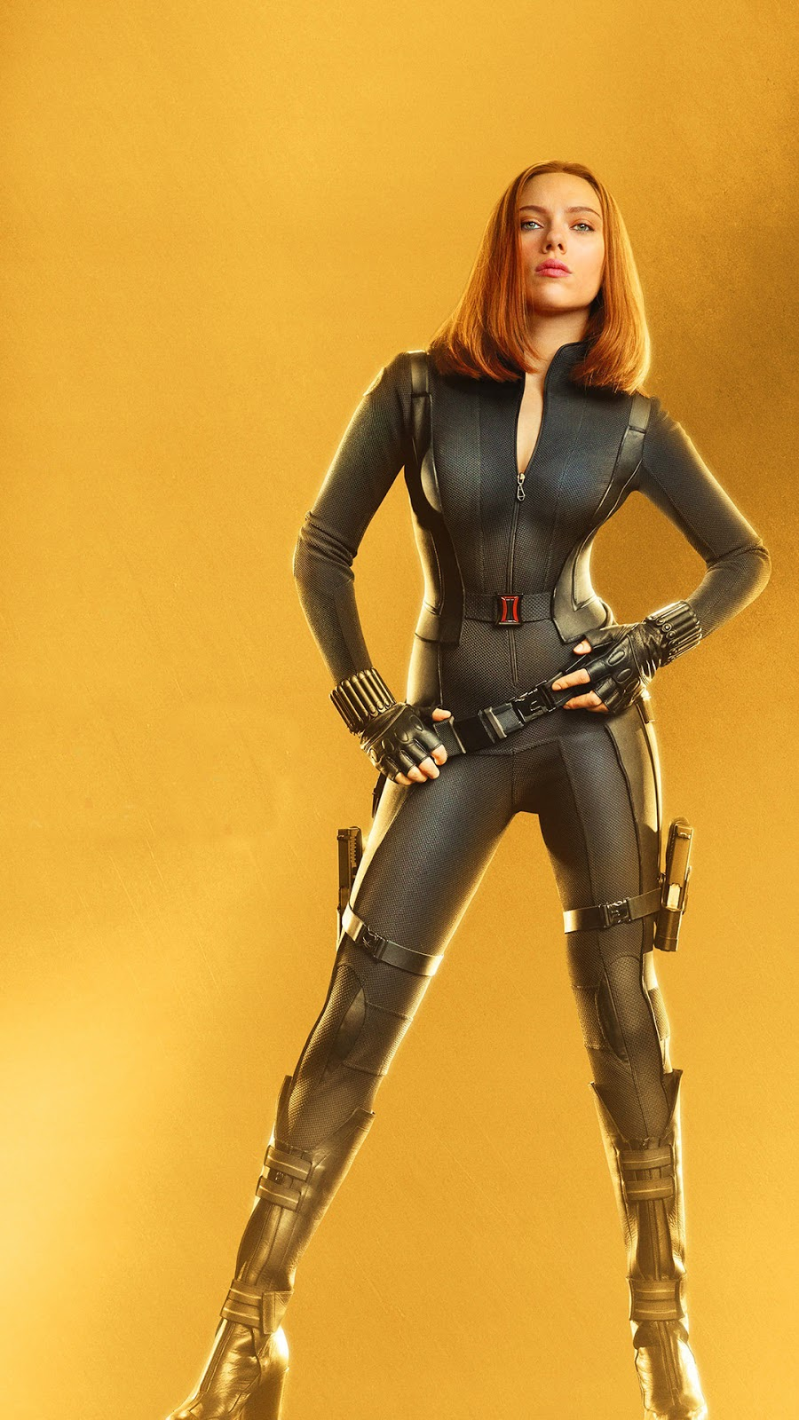Black Widow Mobile Wallpaper baju ketat dan Cosplay