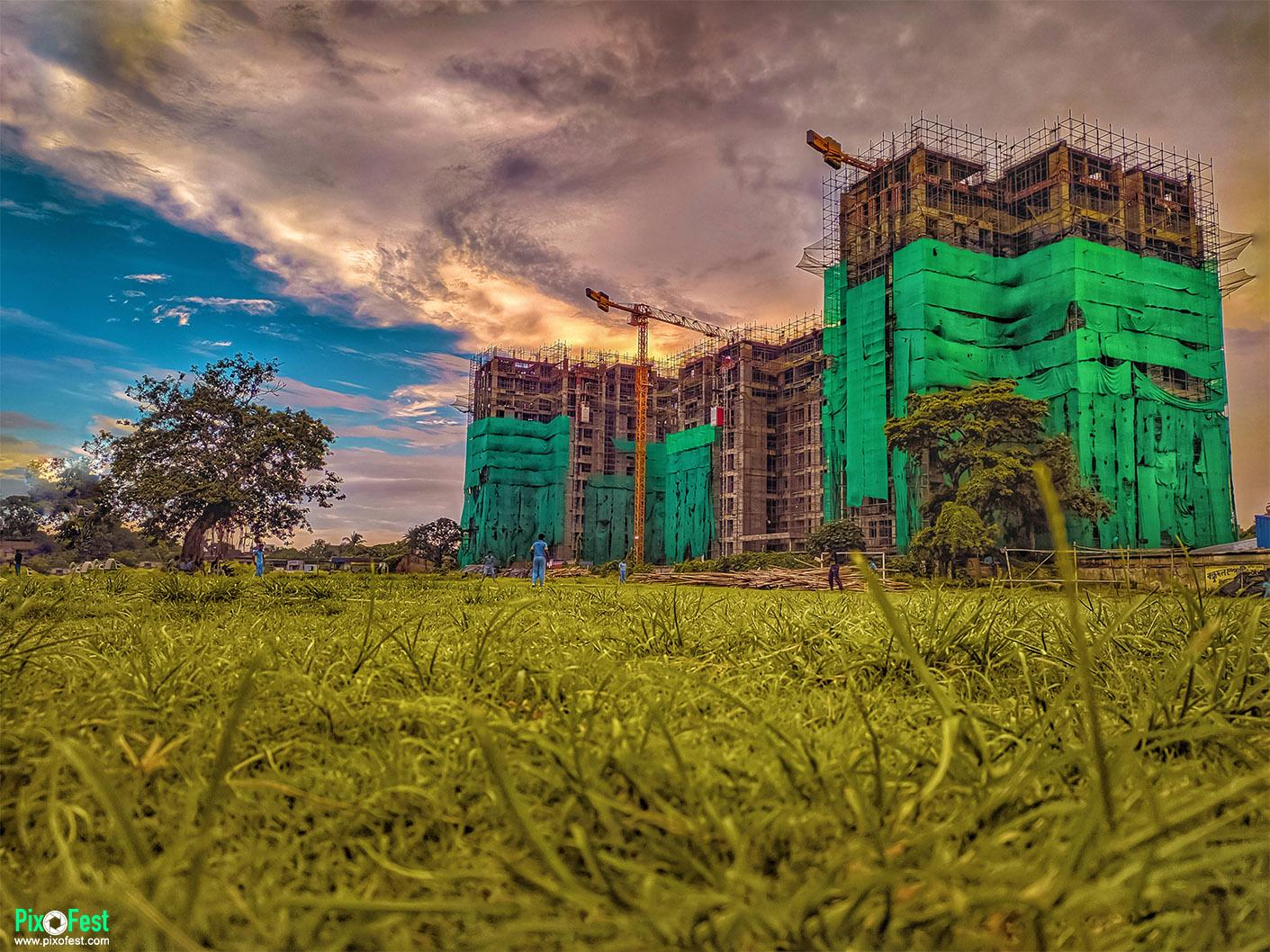building,sky,landscapes,landscapes,grass,grassroots,colorfulsky,pixofest