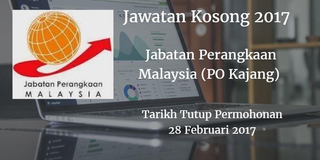 Jawatan Kosong Jabatan Perangkaan Malaysia (PO Kajang) 28 Februari 2017