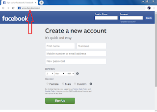 go to facebook