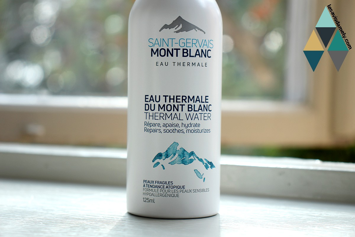avis et test eau thermale pure mont blanc peaux fragiles