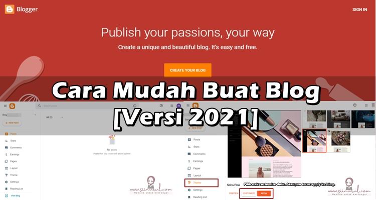 Cara Mudah Buat Blog Versi 2021