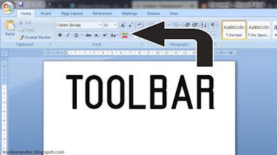 Pengertian Toolbar dan Fungsinya