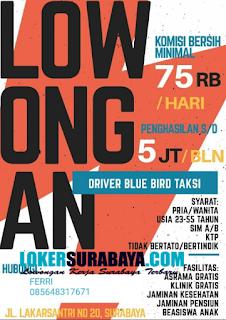 Loker Surabaya Terbaru sebagai Driver Blue Bird Taksi Mei 2019