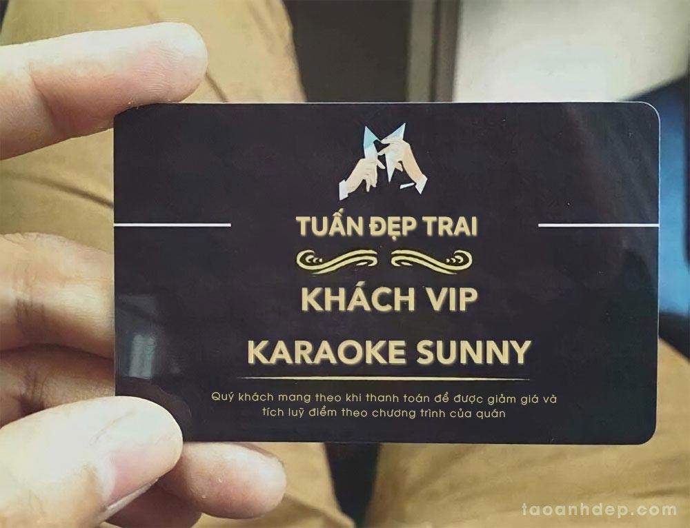 cách làm thẻ khách vip sunny, cách làm thẻ vip karaoke,cách làm thẻ karaoke sunny