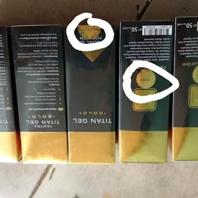 Perbedaan titan gel asli dan palsu
