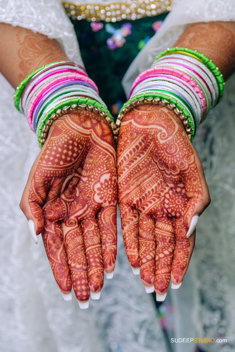 Mehendi Event Photography in Traditional Outfits by Ann Arbor Novi Photographer