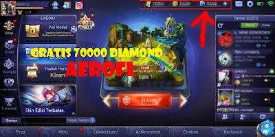 Script 70000 Diamond Gratis Mobile Legends