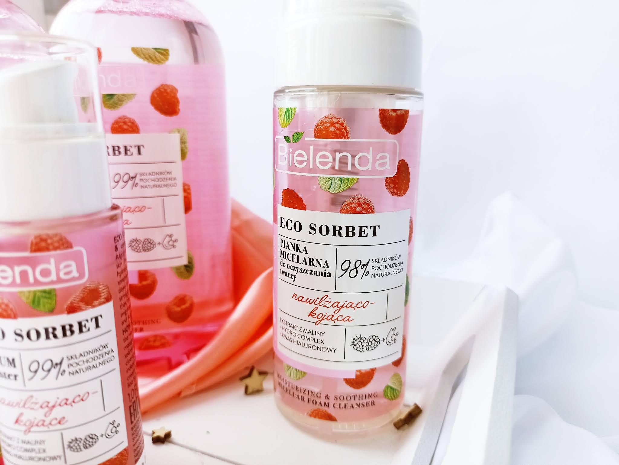 Bielenda Eco Sorbet: Nawilżająco - kojąca pianka micelarna do oczyszczania twarzy `Malina`