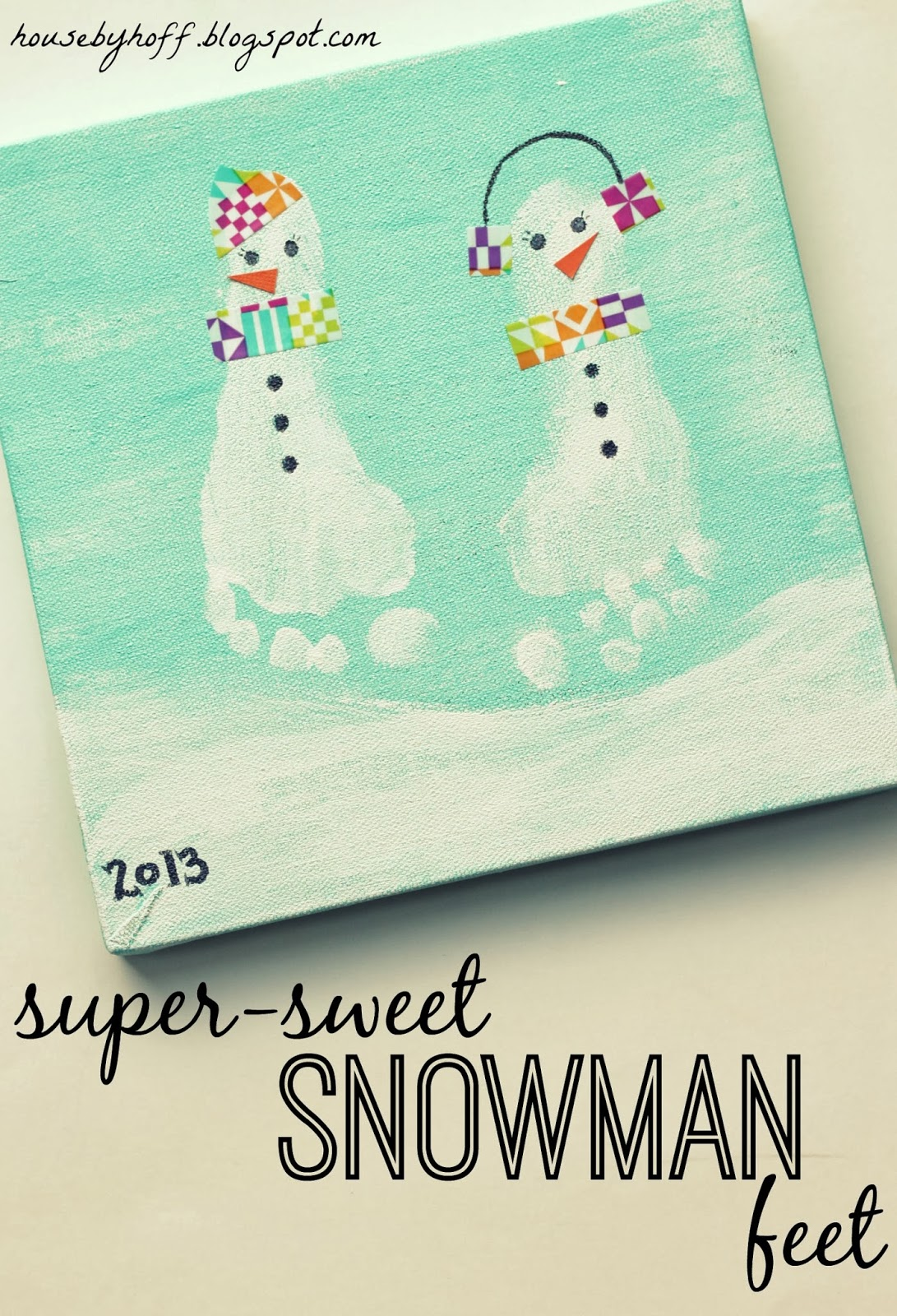 Super Sweet Snowman Feet House By Hoff