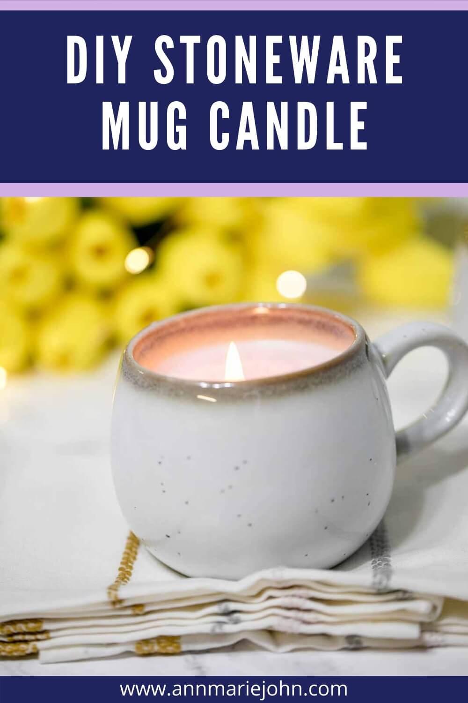 DIY Stoneware Mug Candle