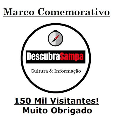 Marco Comemorativo 150 mil visitantes no Descubra Sampa