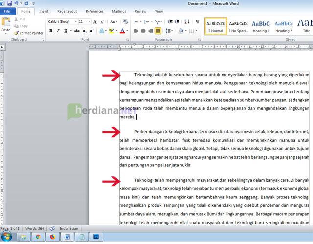 Cara-Membuat-Baris-Pertama-Paragraf-Menjorok-ke-Kanan-Secara-Otomatis