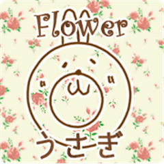 Flower pattern with Bunny