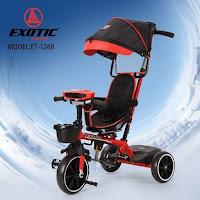 Sepeda Roda Tiga Anak Exotic ET1268 baby tricycle