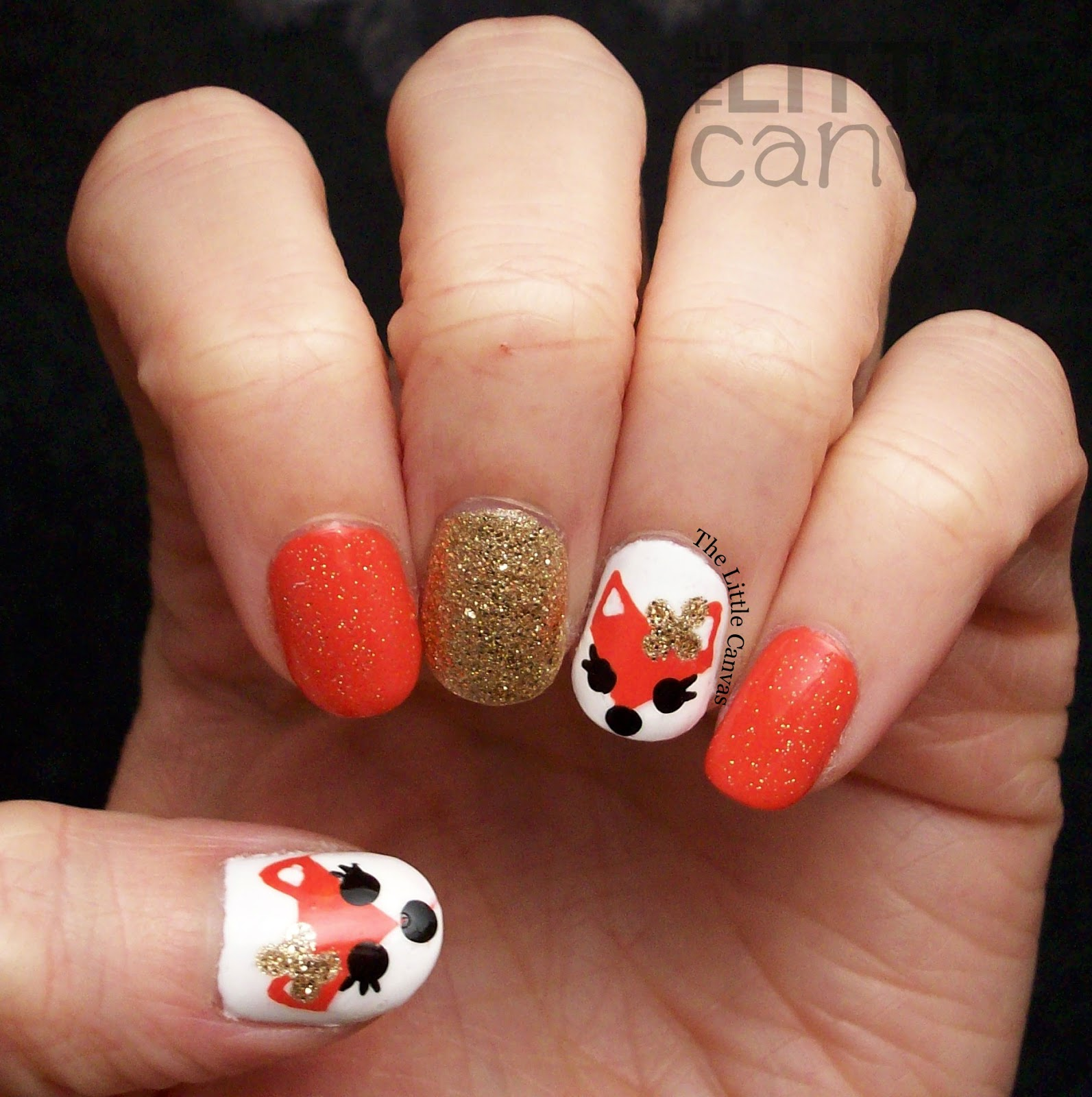 Fox Nail Art Inspired by 25 SweetPeas! - The Little Canvas