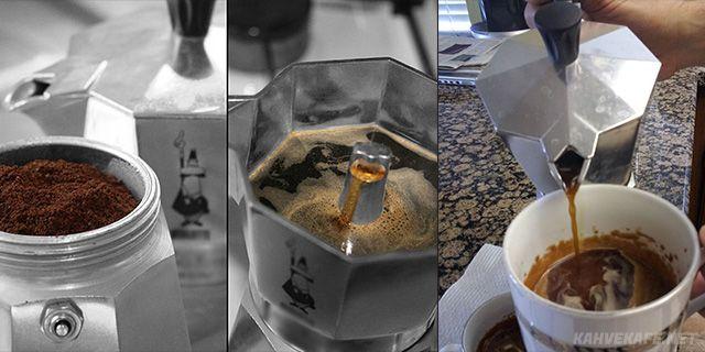 moka pot kahvesi yapımı evde - www.kahvekafe.net