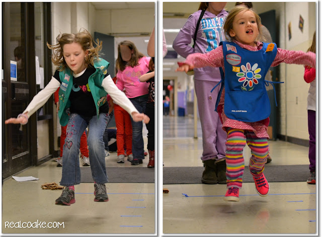 Girl Sports Night Troop Event with Girl Scout Activities and Ideas #GirlScouts #RealCoake