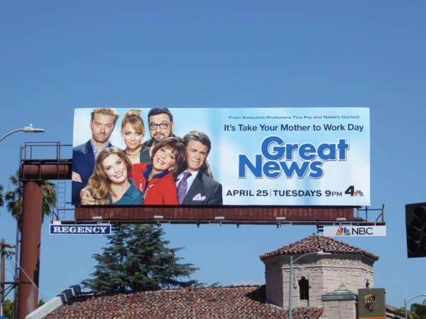 Great News NBC series billboard