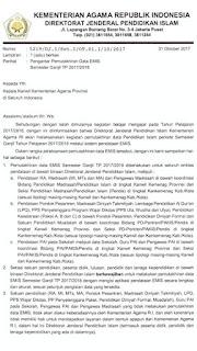Informasi Waktu pemutakhiran data EMIS Semester Ganil TP 2017/2018