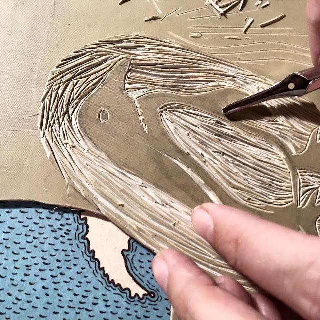 rytí do lina linoryt zvířátka