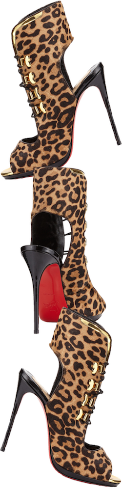 Christian Louboutin Troubida Calf-Hair Red Sole Pump