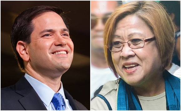 Lawyer to US Senator Rubio: You have no moral bone to call for Delima's release