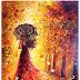 Maple Umbrella Woman