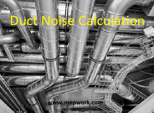 Duct Noise Calcuation Excel Sheet - Sound Attenuation