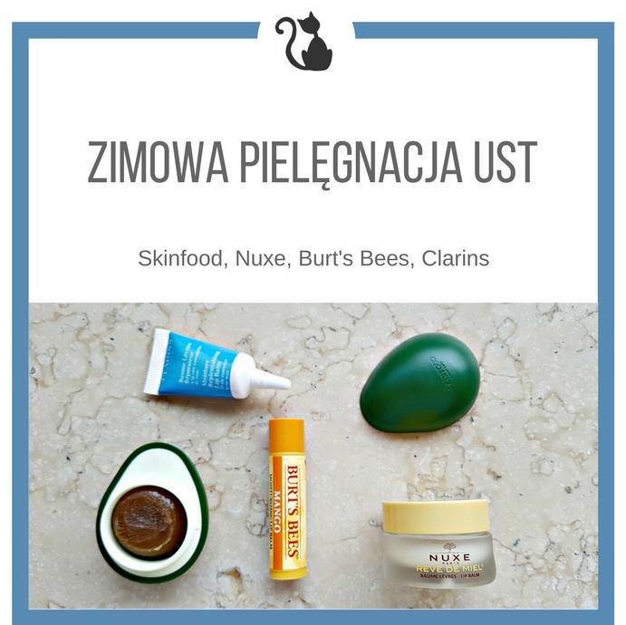Zimowa pielęgnacja ust. Skinfood, Nuxe, Burt's Bees, Clarins