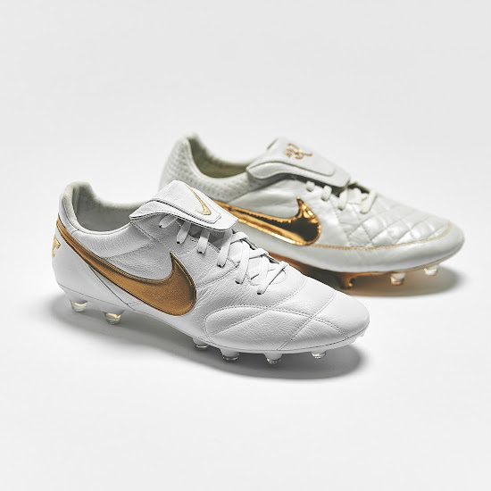 more photos d2079 91437 Happy Birthday, Ronaldinho - White / Gold Nike Premier II ...