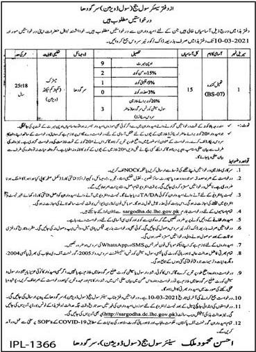 Senior Civil Judge Office Sargodha Jobs 2021 in Pakistan - Download Civil Court Sargodha Jobs 2021 Application Form - sargodha.dc.lhc.gov.pk