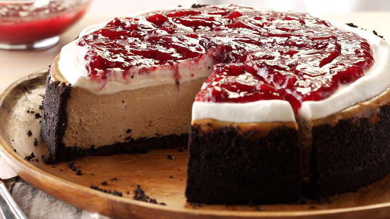 Cranberry Mocha Cheesecake
