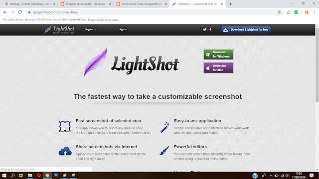 cara mengambil screenshoot dengan mudah di Windows 10