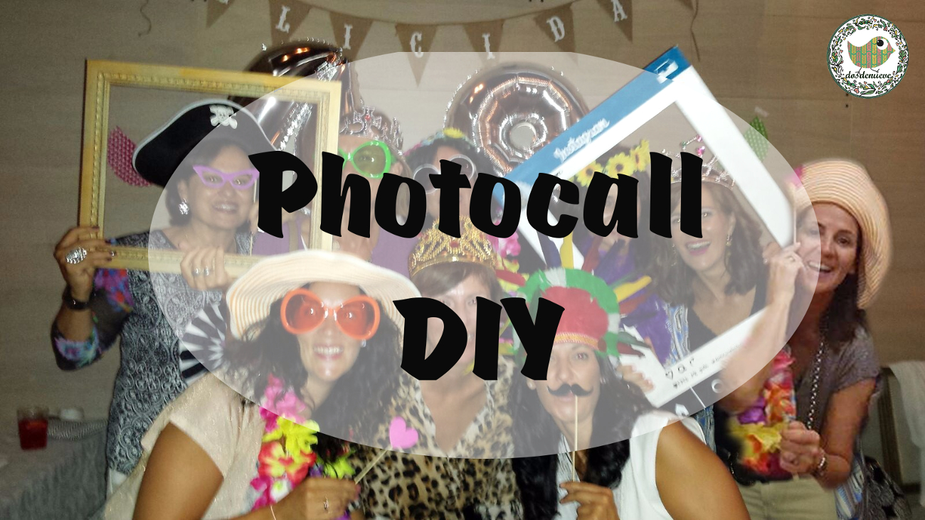 Cómo hacer photocall casero para cumpleaños de adulto