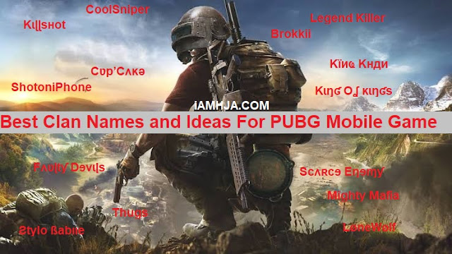 Best Clans names and user names for PUBG