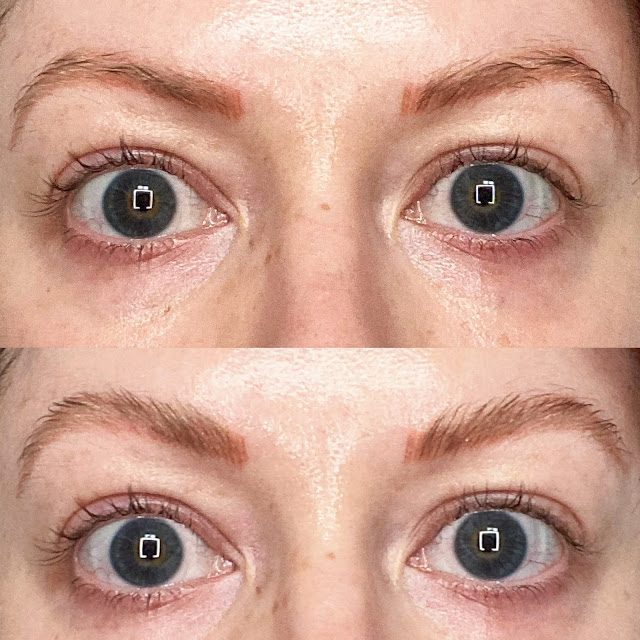 Before and after Anastasia Beverly Hill Brow Freeze