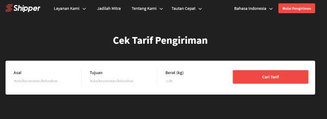Cara Cek Tarif Ekspedisi Memakai Shipper.id